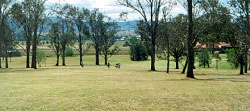 A look down one of the long fairways